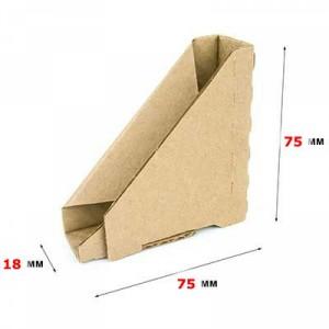 Гофроуголок 75 x 75 x 18 Т−22B бурый